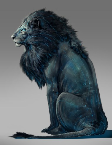 lion dessin design