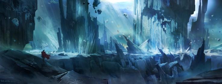 decor glace paysage dessin