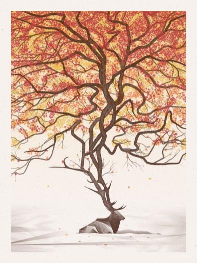 arbre corne animal