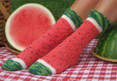 chaussettes pasteque
