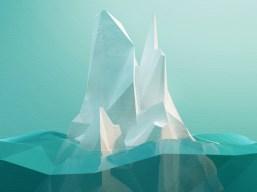 iceberg low poly