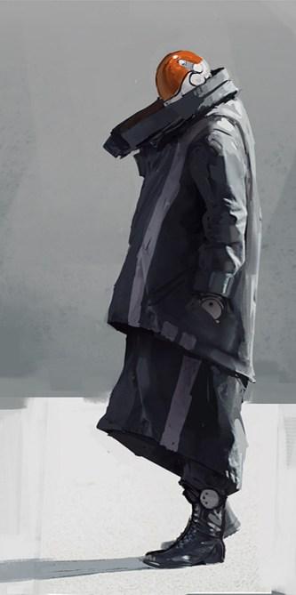 dessin veste futuriste
