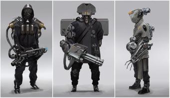 soldat armure futuriste