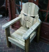 chaise bois stormtrooper