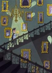 escalier fantomes bougie dessin