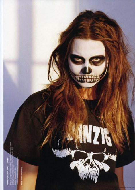 maquillage tete de mort behati-prinsloo