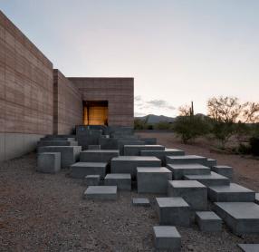 villa escalier cube beton