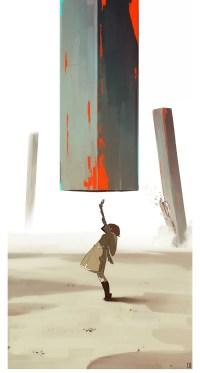 dessin monolithe