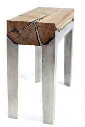table design beton bois