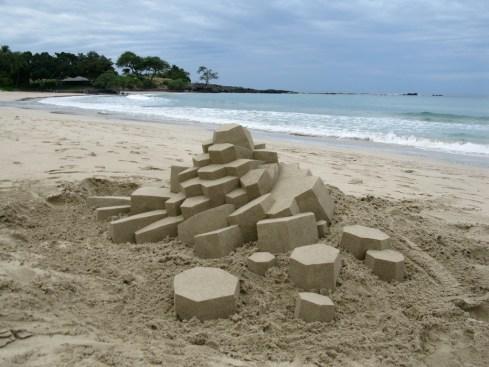 lowpoly sandcastle chateaux de sables 1