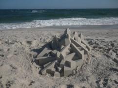 lowpoly sandcastle chateaux de sables 3