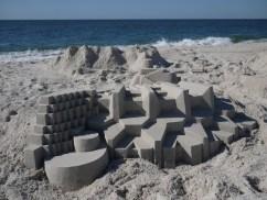 lowpoly sandcastle chateaux de sables 4