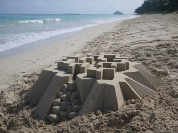 lowpoly sandcastle chateaux de sables 7