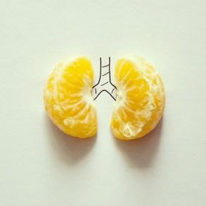 poumons fruit mandarine