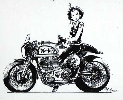 tankgirl dessin moto