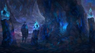 dessin caverne ames