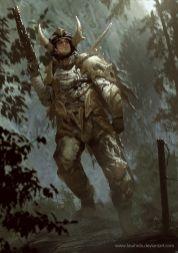 dessin soldat cornu armure
