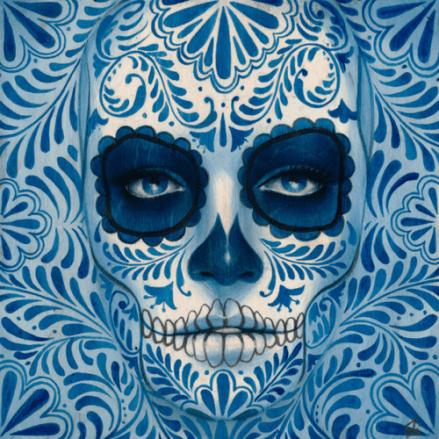 maquillage la muerte bleu