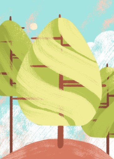 ruckenfigures arbre tree dessin 01