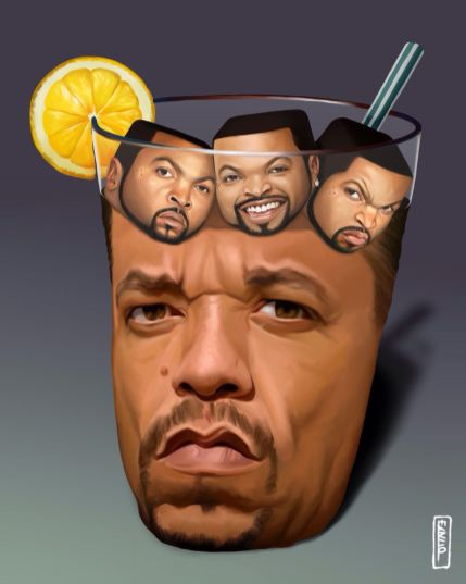ice tea et ice cube