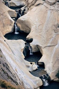 waterfall chutes Patagonia Argentina