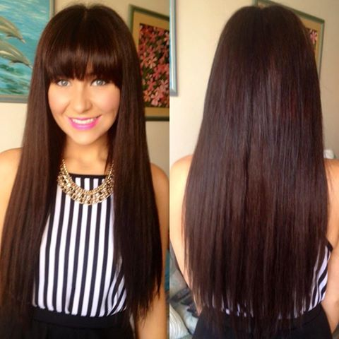 6 medium chestnut brown hair extensions from rachael edwards