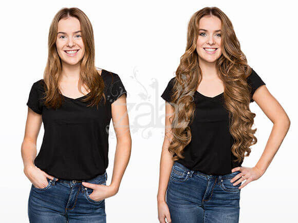Before And After Clip In Hair Extensions Gallery Short To