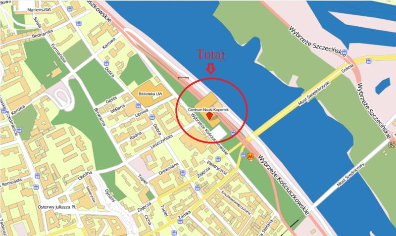 mapa kopernik