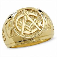 Men's Masonic Ring in 10K Gold | Online Exclusives ...