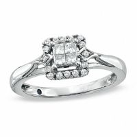 Cherished Promise Collection 1/4 CT. T.W. Quad Princess ...