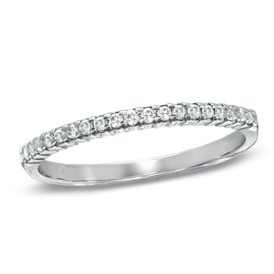 16 CT TW Diamond Wedding Band In 10K White Gold Top