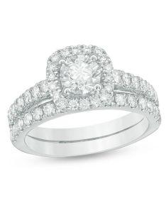 diamond frame bridal set in  white gold engagement rings wedding zales also ct rh