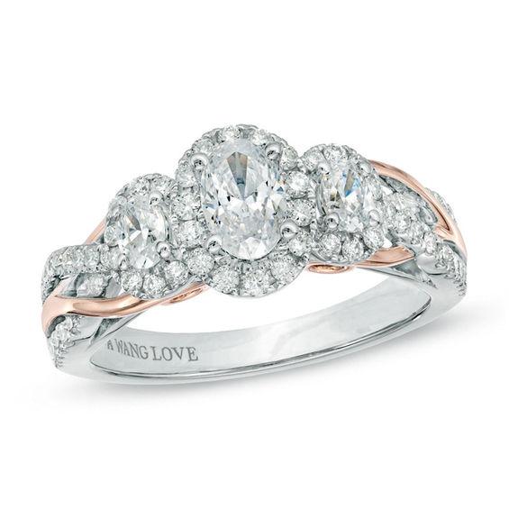 Vera Wang Love Collection 1 CT TW Oval Diamond Three
