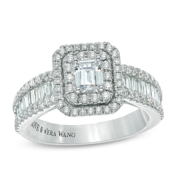 Vera Wang Love Collection 1 12 CT TW Emerald Cut