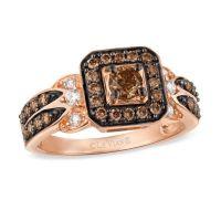 Le Vian Chocolate Diamonds 7/8 CT. T.W. Diamond Square ...