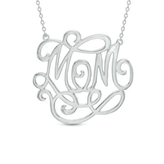 monogram necklace zales