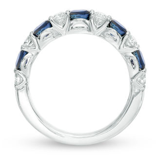 Vera Wang Love Collection Oval Blue Sapphire And 38 CT T