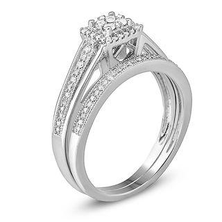 14 CT TW VintageStyle Diamond Frame Bridal Set in