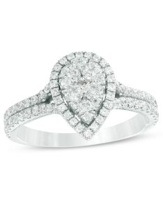 composite diamond pear shaped frame engagement ring in  white gold also holiday catalog items  ideas zales rh