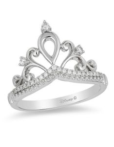 diamond tiara ring in sterling silver size also enchanted disney princess ct rh zales