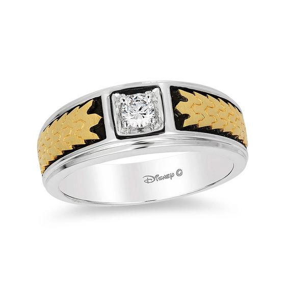 Enchanted Disney Mens 15 CT Diamond Solitaire Crown