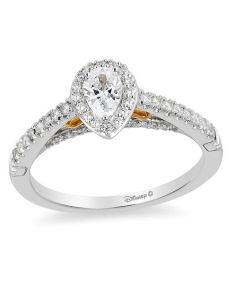 pear shaped diamond frame engagement ring in  two tone gold also enchanted disney merida ct rh zales