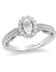 oval diamond frame engagement ring in  white gold also enchanted disney ariel ct rh zales
