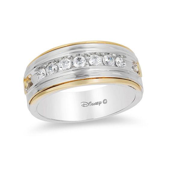Enchanted Disney Mens 12 CT TW Diamond Satin Wedding