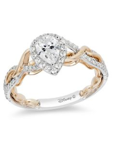 pear shaped diamond frame twist engagement ring in  two tone gold also enchanted disney rapunzel ct rh zales
