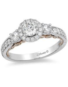 diamond three stone engagement ring in  white gold also enchanted disney jasmine ct rh zales