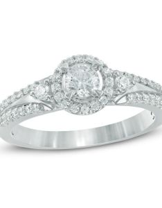 diamond frame engagement ring in  white gold also ct round rh zales