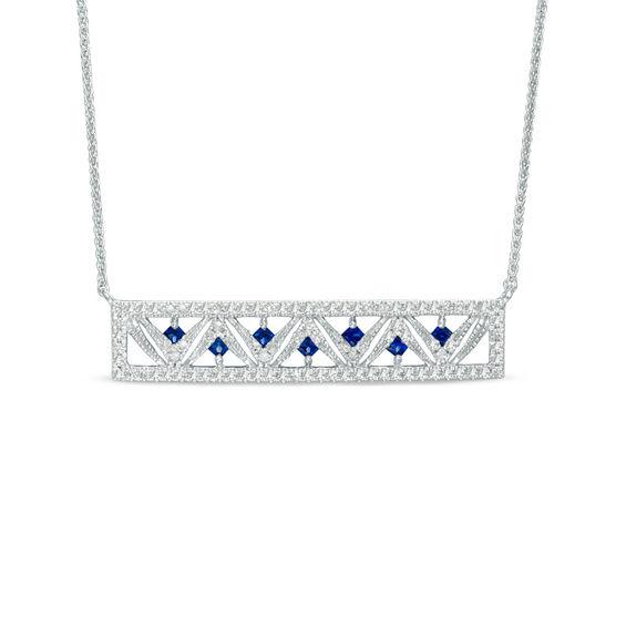 Vera Wang Love Collection Princess-Cut Blue Sapphire and 1
