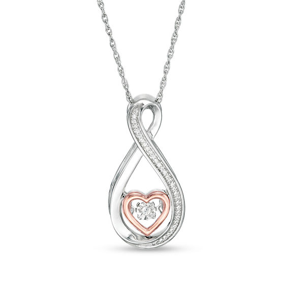 Unstoppable Love™ 1/20 CT. T.W. Diamond Heart Infinity