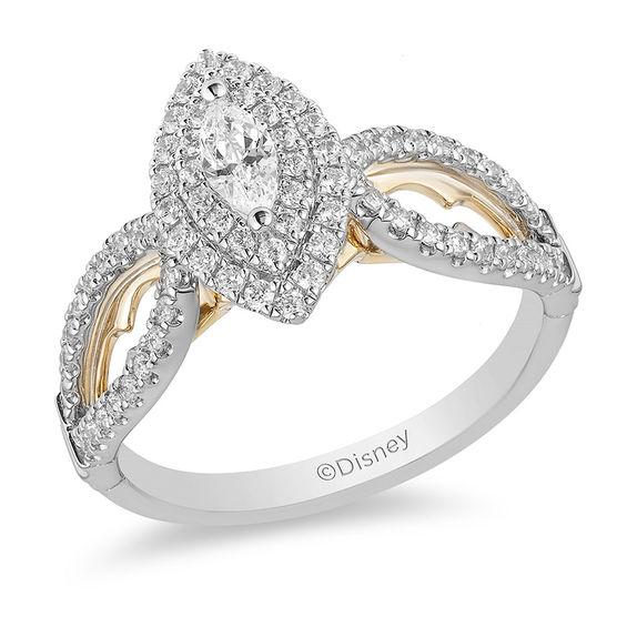 Enchanted Disney Jasmine 34 CT TW Marquise Diamond